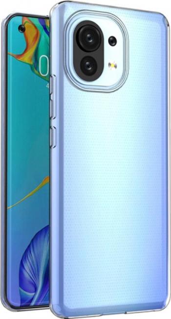 Husa Slim Upzz Case Compatibila Cu Xiaomi Mi 11 Transparenta Grosime 0.5mm