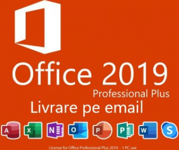 Microsoft Office Pro Plus 2019 Retail All languages PC persoane fizice si juridice Aplicatii desktop
