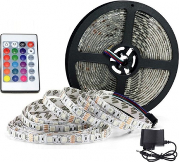 Kit Banda LED RGB cu Telecomanda Reflection Vision and reg 310 LED-uri Multicolor Corpuri de iluminat