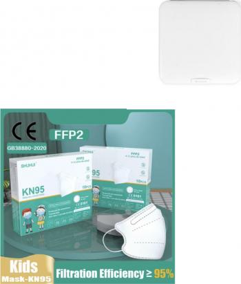 Masti de Protectie pentru copii FFP2 KN95 10 Bucati 4-12 ani Plus 1 Buc Cutie Portabile Pentru Depozitare Masti chirurgicale si reutilizabile