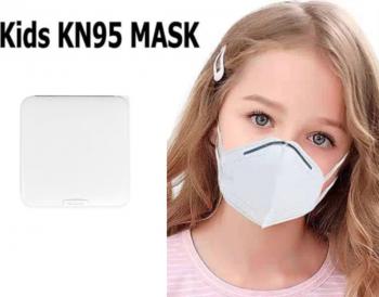 Masti de Protectie pentru copii KN95 10 Bucati Plus 1 Buc Cutie Portabile Pentru Depozitare Masti chirurgicale si reutilizabile