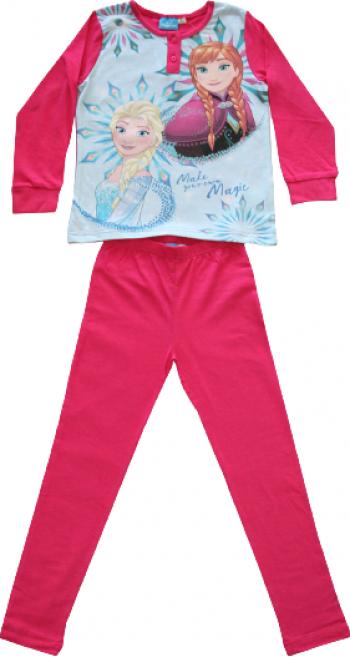 Pijamale lungi Disney Frozen culoare Fucsia 9 ani Pijamale