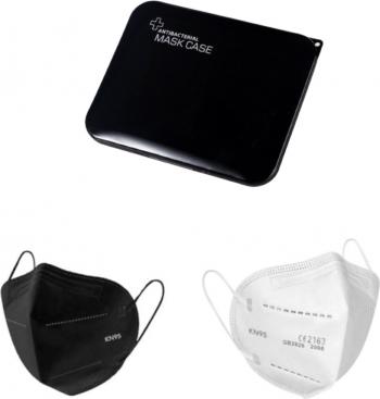 Set 10 Bucati Masca De Protectie KN95 FFP2 Negru Alb Plus 1 Buc Cutie Portabile Pentru Depozitare Masti chirurgicale si reutilizabile