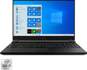 Laptop Gaming Gigabyte Aero OLED 15 YC Intel Core (10th Gen) i9-10980HK 2TB SSD 64GB Geforce RTX 3080 8GB 4K Win10 Pro T. Ilum. RGB Negru