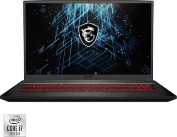 Laptop Gaming MSI GF75 Thin 10SCSR Intel Core (10th Gen) i7-10750H 512GB SSD 16GB Nvidia GeForce GTX1650 Ti 4GB FullHD 144Hz Black Laptop laptopuri
