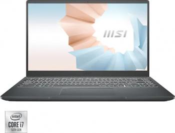 Laptop MSI Modern 14 B10RBSW Intel Core (10th Gen) i7-10510U 512GB SSD 16GB Nvidia GeForce MX350 2GB FullHD Tastatura iluminata Black