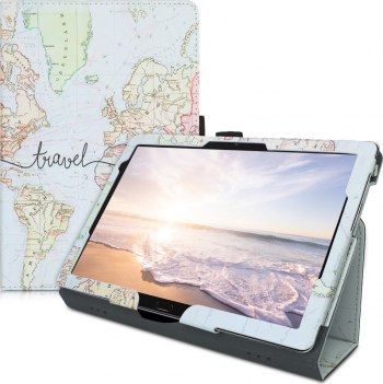 Husa pentru Huawei MediaPad M5 Lite Piele ecologica Multicolor 46782.08
