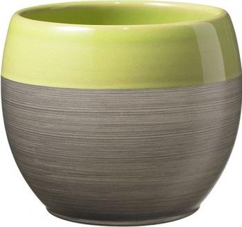 Masca ghiveci ceramica rotunda maro D 18 cm Ghivece si suporturi