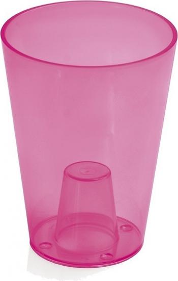 Masca ghiveci orhidee rotunda plastic roz D 13 cm Ghivece si suporturi