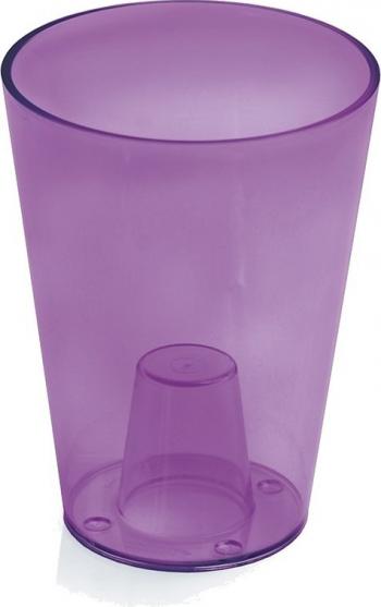 Masca ghiveci orhidee rotunda plastic violet D 13 cm Ghivece si suporturi