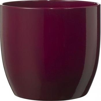 Masca ghiveci rotunda ceramica burgundy D 14 cm Ghivece si suporturi