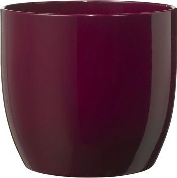 Masca ghiveci rotunda ceramica burgundy D 19 cm Ghivece si suporturi