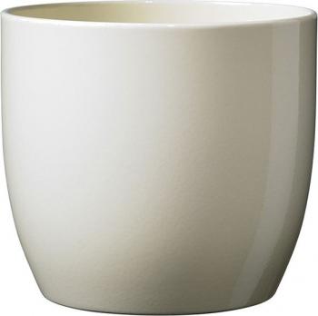 Masca ghiveci rotunda ceramica crem D 14 cm Ghivece si suporturi