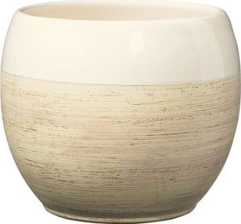 Masca ghiveci rotunda ceramica crem D 15 cm Ghivece si suporturi