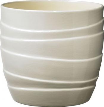 Masca ghiveci rotunda ceramica crem D 16 cm Ghivece si suporturi