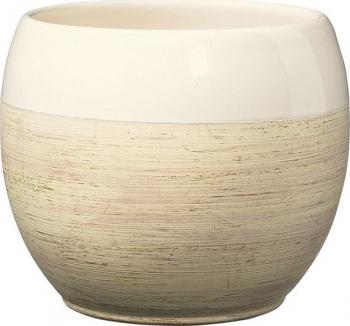 Masca ghiveci rotunda ceramica crem D 18 cm Ghivece si suporturi