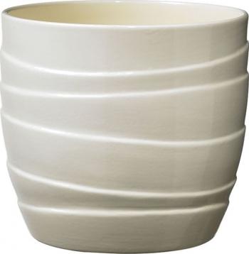 Masca ghiveci rotunda ceramica crem D 19 cm Ghivece si suporturi