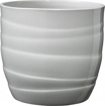 Masca ghiveci rotunda ceramica gri D 13 cm Ghivece si suporturi