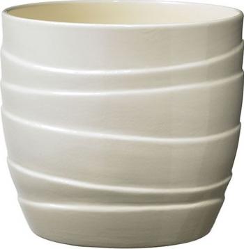 Masca ghiveci rotunda ceramica gri D 14 cm Ghivece si suporturi