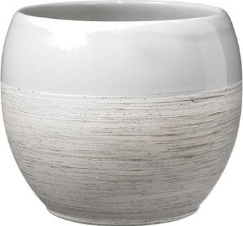 Masca ghiveci rotunda ceramica gri D 15 cm Ghivece si suporturi