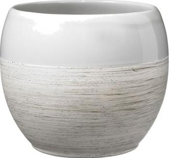 Masca ghiveci rotunda ceramica gri D 18 cm Ghivece si suporturi