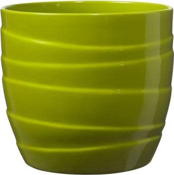 Masca ghiveci rotunda ceramica verde D 14 cm Ghivece si suporturi
