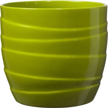 Masca ghiveci rotunda ceramica verde D 16 cm Ghivece si suporturi