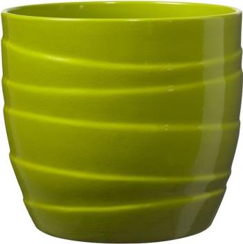 Masca ghiveci rotunda ceramica verde D 19 cm Ghivece si suporturi