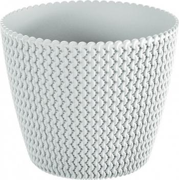Masca ghiveci rotunda plastic alb D 19 cm Ghivece si suporturi