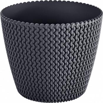 Masca ghiveci rotunda plastic antracit D 13 cm Ghivece si suporturi