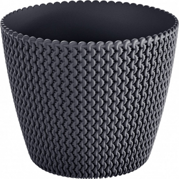 Masca ghiveci rotunda plastic antracit D 26 cm Ghivece si suporturi