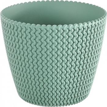 Masca ghiveci rotunda plastic verde D 13 cm Ghivece si suporturi