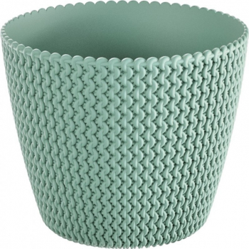 Masca ghiveci rotunda plastic verde D 16 cm Ghivece si suporturi