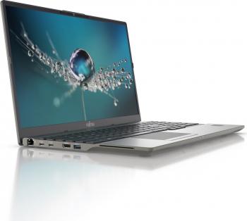 Laptop Fujitsu Lifebook U7511 Intel Core (11th Gen) i7-1165G7 512GB SSD 8GB Intel Iris XE FullHD Win10 Pro FPR T.Ilum. Negru