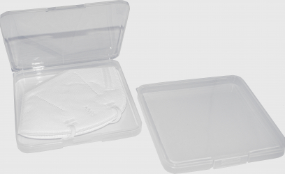 Cutie pentru pastrare masca de protectie chirurgicala sau KN95 capacitate 2-3 masti transparenta Masti chirurgicale si reutilizabile