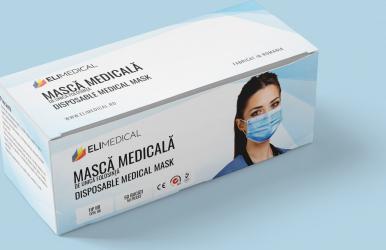 Masca medicala de unica folosinta TIP IIR ELI MEDICAL Masti chirurgicale si reutilizabile