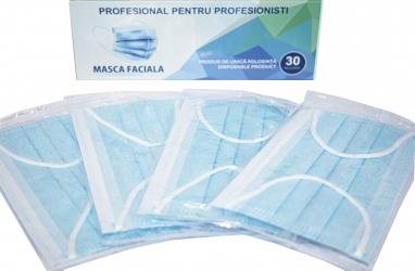 Masti de protectie de unica folosinta ambalate individual in cutie cu 30 buc Masti chirurgicale si reutilizabile