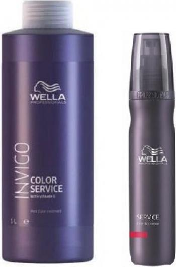 Set Wella Invigo Service Color Masca 1000ml + Crema indepartarea petelor de vopsea 150ml Masti, exfoliant, tonice