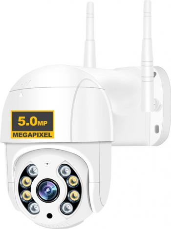 Camera de supraveghere WIFI Loosafe 50HS Pro+ 5MP exterior/interior Ultra HD 4K rotire comunicare bidirectiona senzor miscare Alb Camere de Supraveghere