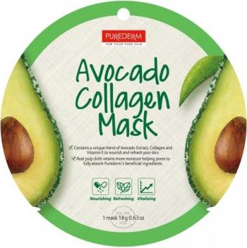 Masca cu colagen si extract de avocado Purederm Masti, exfoliant, tonice