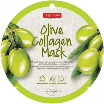 Masca cu colagen si extract de masline Purederm Masti, exfoliant, tonice