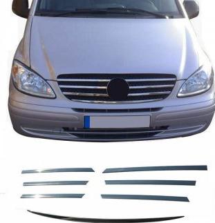 Ornamente inox grila masca fata Mercedes Vito W639 2004-2010 Huse si Accesorii
