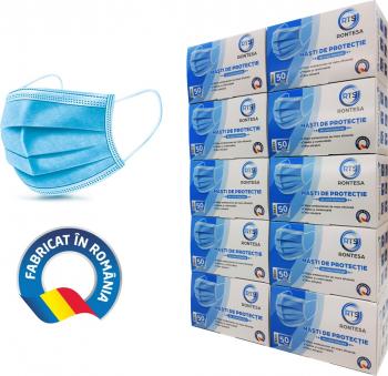 Set 10 cutii X 50 bucati Masti protectie faciala medicala tip II R de unica folosinta Masti chirurgicale si reutilizabile