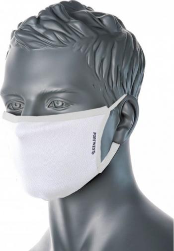 Masca faciala din tesatura anti-microbiana cu 3 straturi Pk25 Regular Alb one size