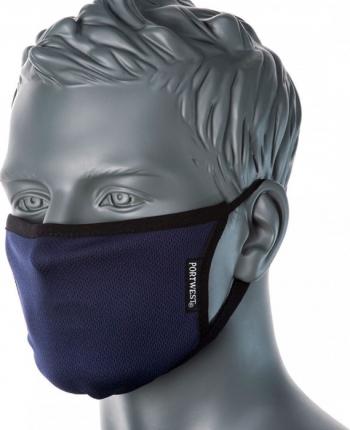 Masca faciala din tesatura anti-microbiana cu 3 straturi Pk25 Regular Bleumarin one size