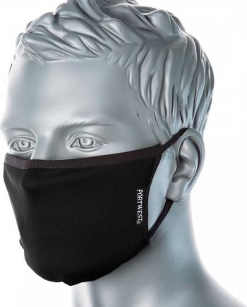 Masca faciala din tesatura anti-microbiana cu 3 straturi Pk25 Regular Negru one size