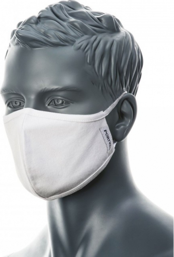 Masca Faciala din Tesatura Antimicrobiana cu 2 straturi 25buc Regular Alb one size