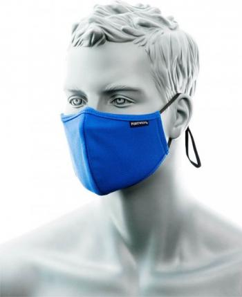 Masca Faciala Textila 2 Antimicrobiana 2 Straturi cu Banda pentru Nas 25 buc Regular Albastru Royal one size Articole protectia muncii