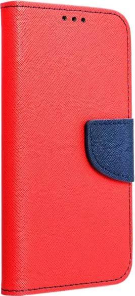 Husa Flip Carte Upzz Fancy Book Compatibila Cu Xiaomi Mi 11 Rosu Navy