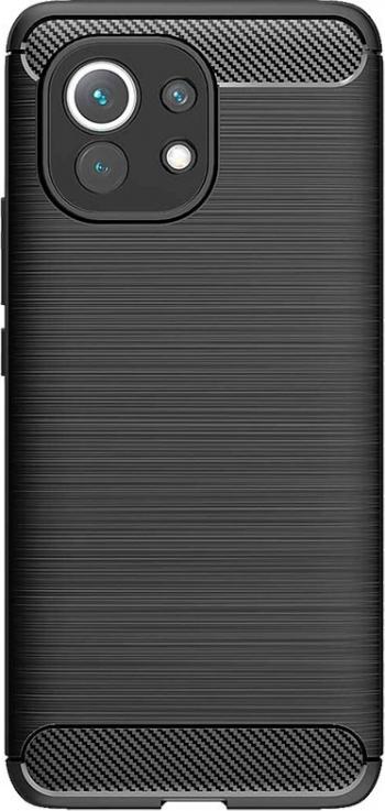 Husa Spate Upzz Carbon Pro Compatibil Cu Xiaomi Mi 11 Silicon Negru